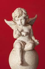 Ceramic angel figure