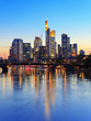 Frankfurt am Main skyline at dusk, Germany