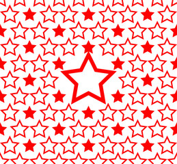 seamless red star pattern background