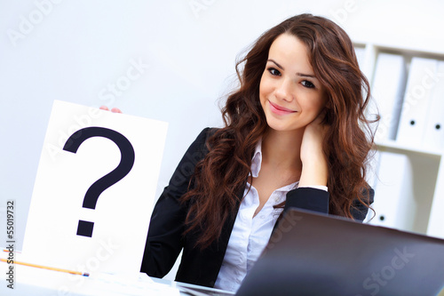 Young busines woman with notebook