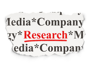 Advertising concept: Research on Paper background