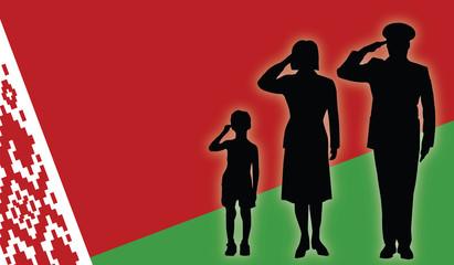 Belarus soldier family salut