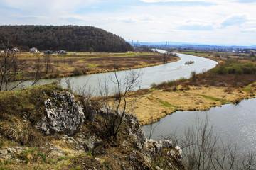 Wisla (Vistula) river near to Krakow, Poland