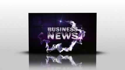 Business News in Cubes, with Green Screen and Transition