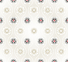 Vector: seamless pattern with lotus flowers background