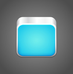 Vector blank blue app icon