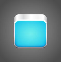 Vector blank blue app icon