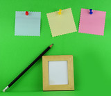 Realistic Sticky Note and photo frame
