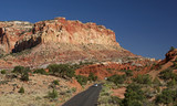 Road and Landscape in Capitol Reef NP - Utah