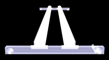 Overhead crane. X-Ray render