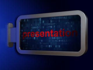 Marketing concept: Presentation on billboard background