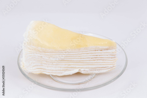cheese cake on white isolated background