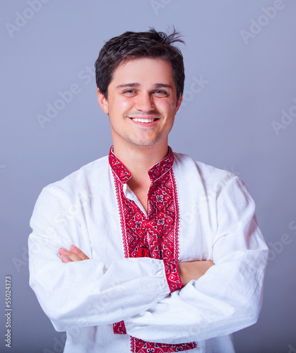 Ukrainian man in national clothes