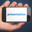 Advertising concept: Presentation on smartphone