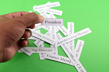 business words concept. Business leader conceptual background