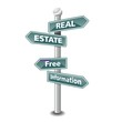 REAL ESTATE icon as signpost - NEW TOP TREND