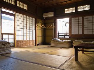 Japanisches Zimmer mit Tatami Fußboden