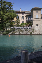 Panorama on the lake in Italy