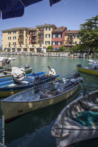 Boats on the lake in Italy