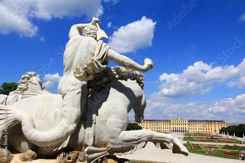 Neptune Fountain at Schloss Schoenbrunn Palace