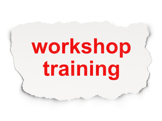 Education concept: Workshop Training on Paper background