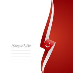 Turkish right side brochure cover vector