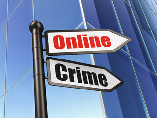 Security concept: Online Crime on Building background