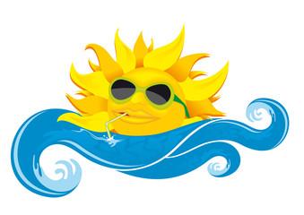 sun drinking