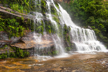 Waterfall in Blue Mountains National Park, Australia
