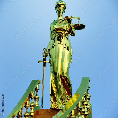 Steps to justice - Lady of Justice is waiting to judge