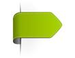 Pfeil Label grün