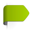 Pfeil Sticker leer grün
