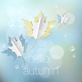 Autumn abstract nature background with maple  leaf