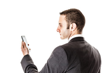 Businessman's smartphone