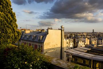 Terrace rooftop view, Paris