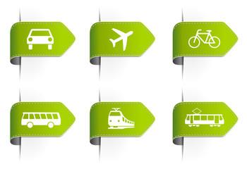 Grüne Symbole Verkehr