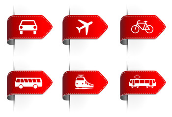Pfeil Aufkleber rot Verkehr