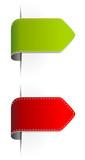 Label rot grün Pfeil