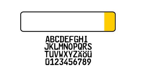 Kurzzeitkennzeichen Kfz Auto Nummernschild