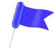 épingle de signalisation drapeau bleu