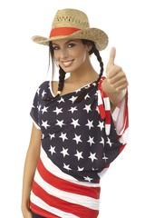 Happy American girl