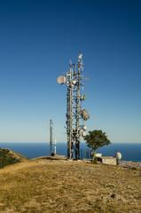 Telecommunications tower landscape