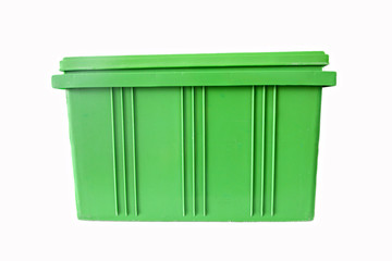 Green Plastic box Packaging of finished goods.