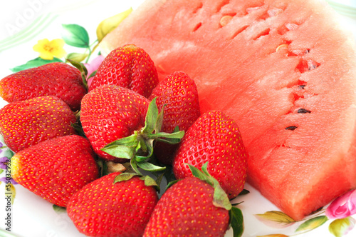 Watermelon and strawberry