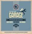 Auto service retro poster design