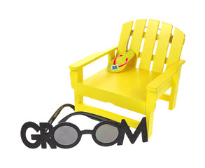 Toy Lawnchair and Sunglasses