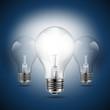 light bulbs idea concept