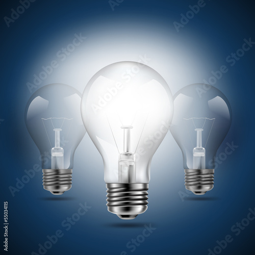 light bulbs idea concept