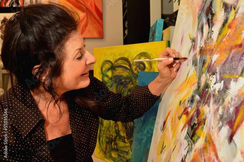 Mature Woman Artist - 55035566
