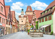 Historic town of Rothenburg ob der Tauber, Bavaria, Germany